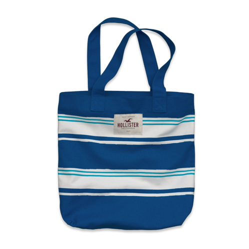 Girls Stripe Book Tote