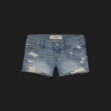 Girls Hollister Low Rise Midi Length Shorts