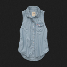 Girls Manhattan Beach Denim Shirt