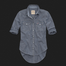 Girls Ormond Beach Denim Shirt