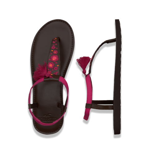 Girls Pretty Embroidered Flip Flops