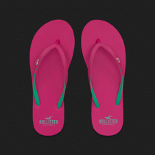 Girls Pop Color Flip Flops