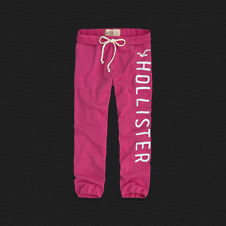 Girls Hollister Banded Crop Sweatpants