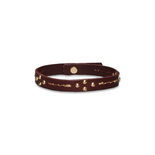 Girls Embellished Leather Bracelet