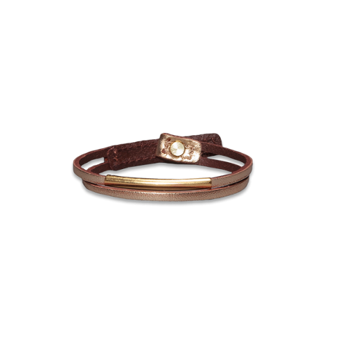 Girls Shine Leather Bracelet