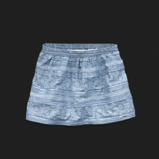 Girls Hollister Chambray Shine Skirt