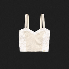 Girls First Point Cropped Cami
