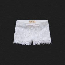 Girls Hollister Low Rise Crocheted Short-Shorts