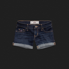 Girls Hollister Low-Rise Midi Length Shorts
