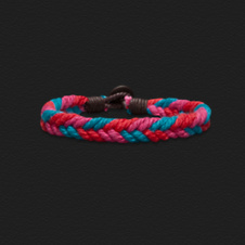 Boys Braided Pop-Color Bracelet