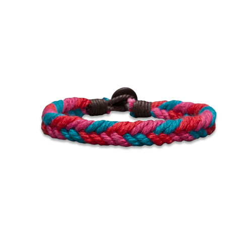 Guys Braided Pop-Color Bracelet