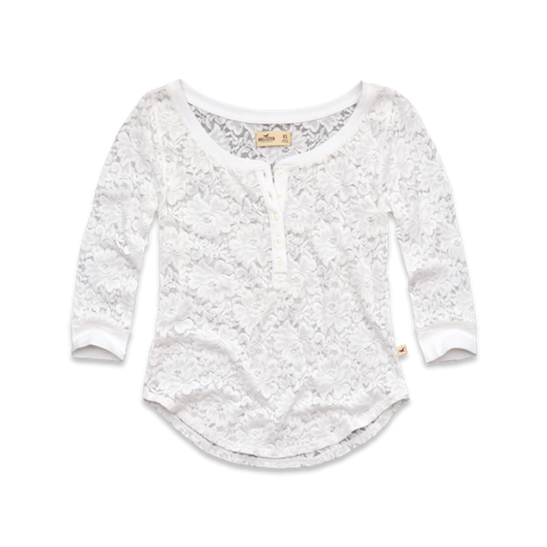 Girls PC Highway Lace Henley