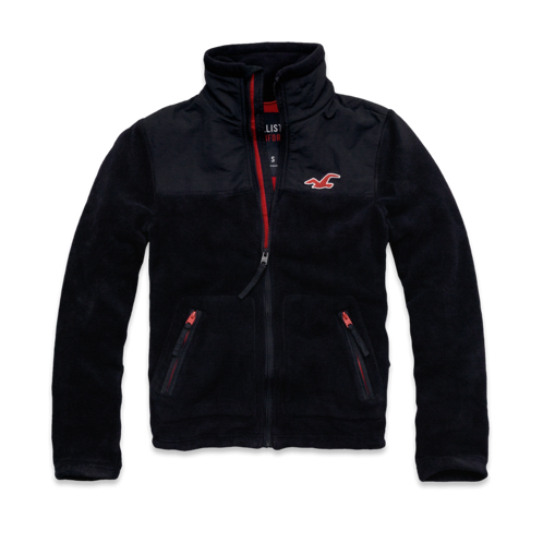 Guys Hollister So Cal Oceanside Fleece Jacket