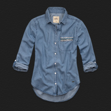 Girls Embarcadero Denim Shirt