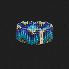 Girls Beaded Stretch Cuff Bracelet