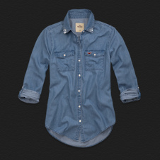 Girls Faria Beach Denim Shirt