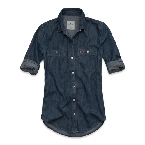 Girls Scripps Pier Denim Shirt