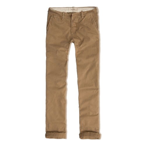 Guys Hollister Slim Straight Chinos