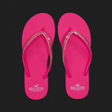 Girls Sparkling Shine Flip Flops