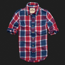 Boys Stone Steps Beach Twill Shirt
