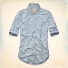 Clobberstones Shine Collar Denim Shirt