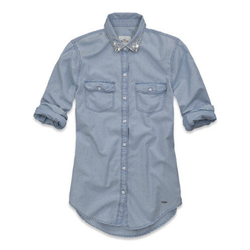 Girls Huntington Beach Denim Shirt