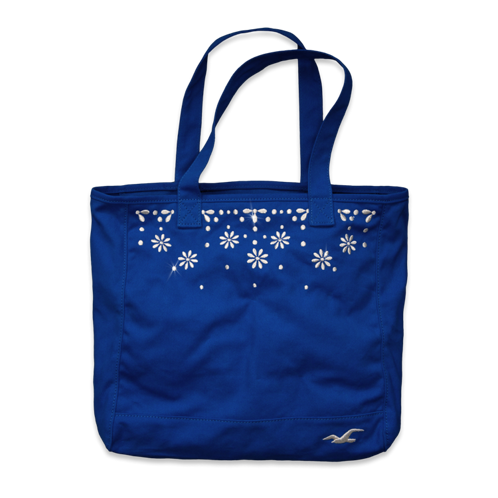 Girls Pretty Embroidered Tote