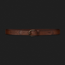 Girls Embossed Leather Belt