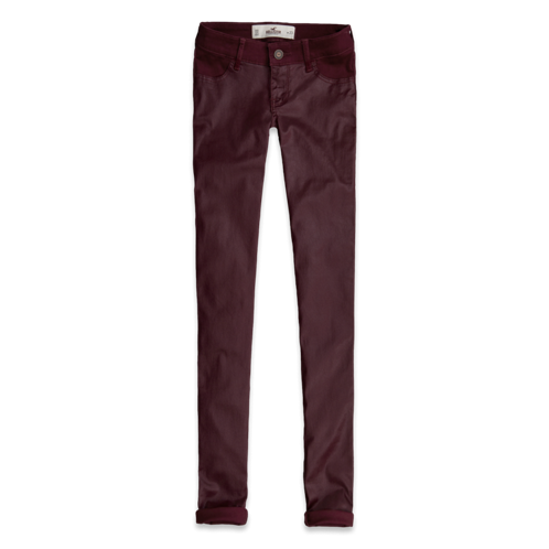 Girls Hollister Coated Front Jeggings