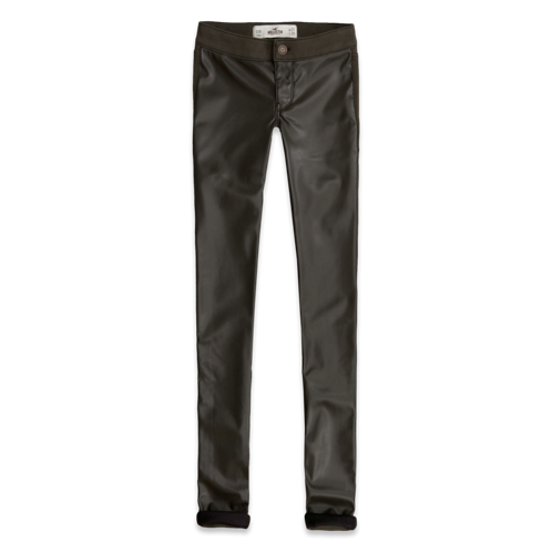 Girls Hollister Vegan Leather Front Jeggings