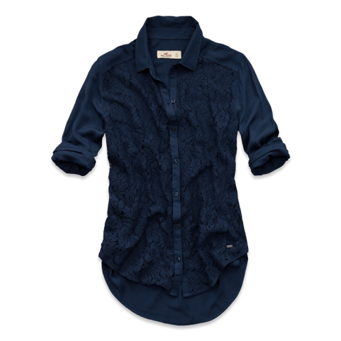 Girls El Morro Lace Front Shirt