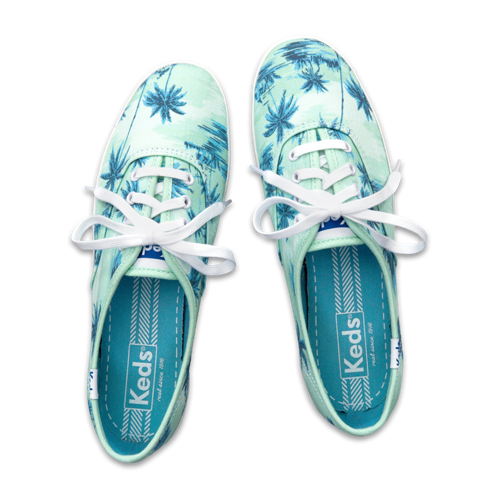 Girls Hollister + Keds Champion Tropical Print Sneakers