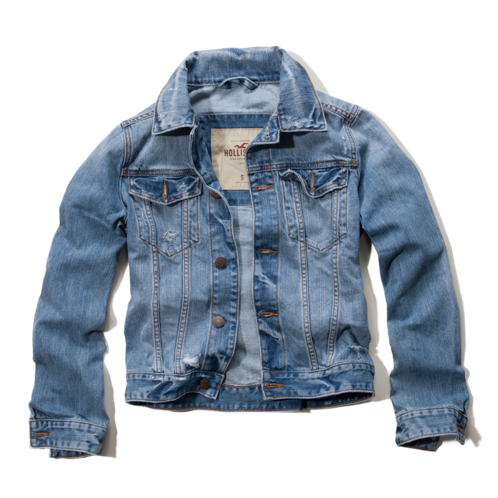 Girls White Point Denim Jacket