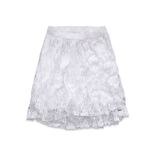 Girls Hollister Natural Waist Lace Skater Skirt
