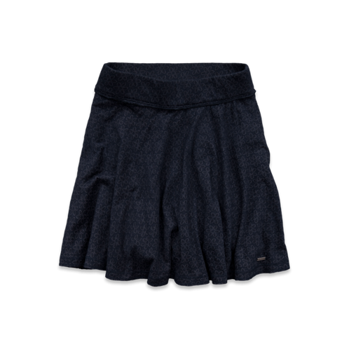 Girls Hollister Knit Burnout Skater Skirt