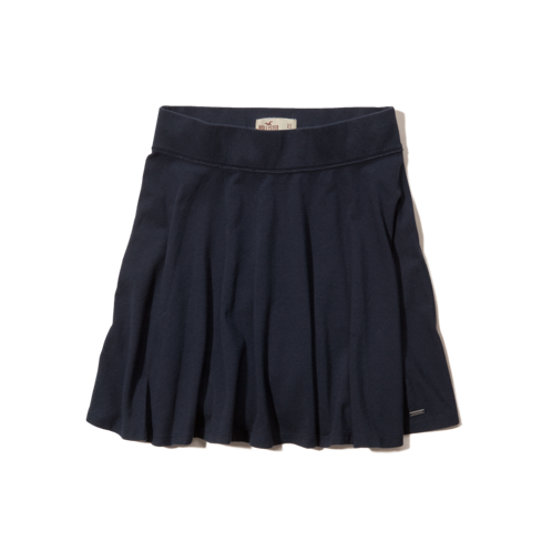 Girls Hollister High Rise Knit Skater Skirt