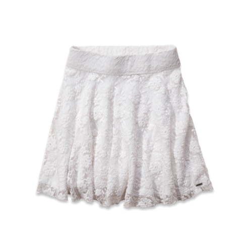 Girls Hollister High Rise Lace Skater Skirt