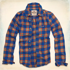 Hollywood Beach Flannel Shirt