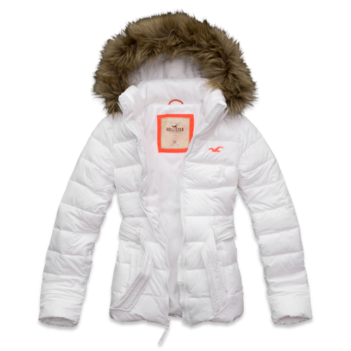Girls White Point Parka