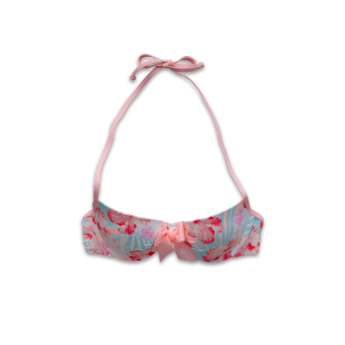 Girls Floral Push 'Em Up Swim Top