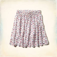 Hollister High Rise Floral Skater Skirt