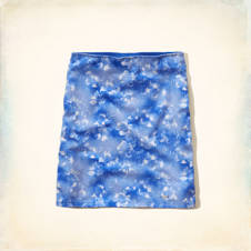 Hollister Slim Knit Printed Skirt