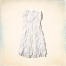 Swami's Beach Strapless Lace Dress