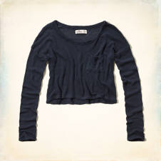 Los Trancos Drapey Knit Crop Top