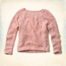 Bay Street Fuzzy Eyelash Sweater