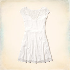 North Jetty Lace Skater Dress