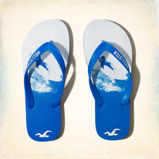 Photo Real Graphic Flip Flops