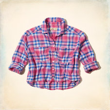 Pacific Cropped Plaid Shirt