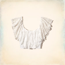 Malaga Beach Ruffle Crop Top