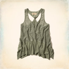 Cardiff Lace Twist Back Tank